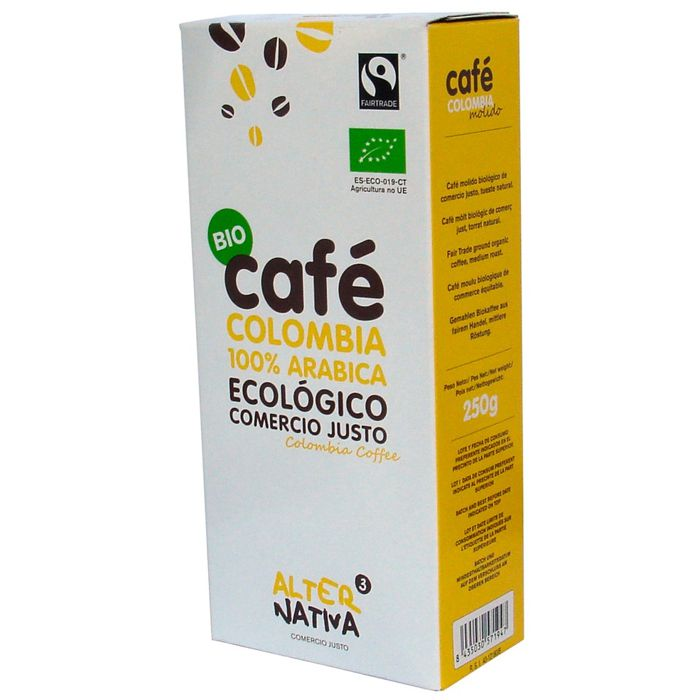 Cafè COLOMBIA 100% Aràbica 250g ALTERNATIVA3